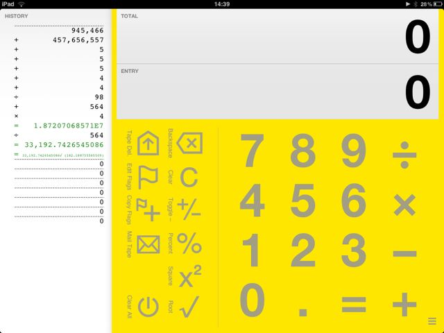 Digits Calculator for iPad