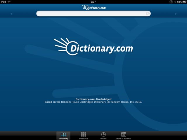 dictionarycomiPad