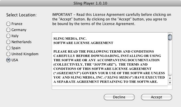 SlingPlayer for Mac