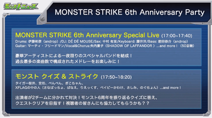 6th Anniversary Party