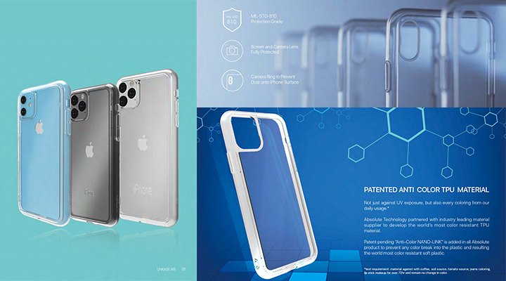 LINKASE AIR with Gorilla Glass(側面TPU:ADM クリア)