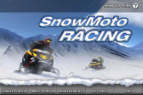 snowmobile racing game!