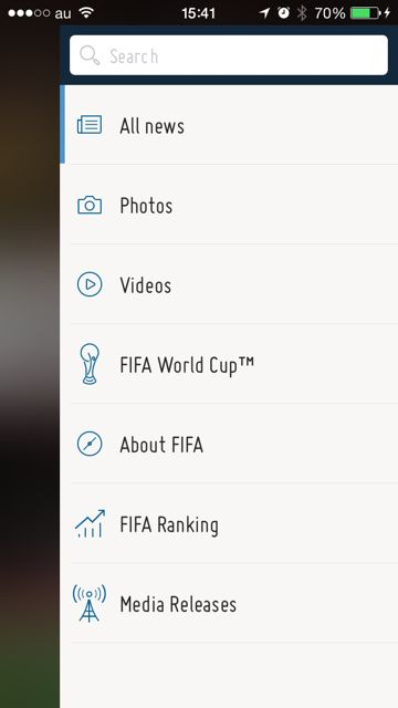 iPhone FIFA Official App サッカー 試合結果 - 06