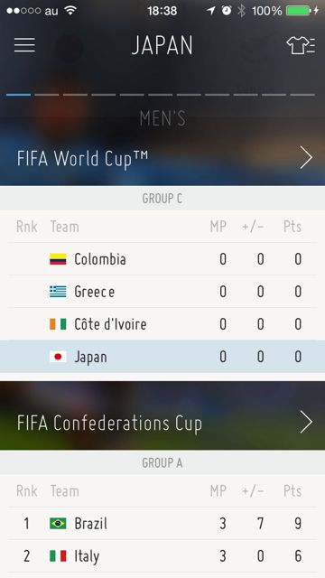 iPhone FIFA Official App サッカー 試合結果 - 11